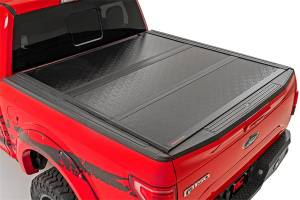 Bed Accessories - Tonneau Covers - Rough Country - Rough Country Hard Tri-Fold Tonneau Bed Cover 47119651