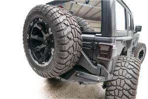Exterior - Accessories - Fab Fours - Fab Fours Off The Door Tire Carrier JL18-Y1851T-B