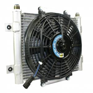 Transmission - Automatic Transmission Parts - BD Diesel - BD Diesel BD Xtrude Transmission Cooler with Fan -10 JIC Male Connection 1300611