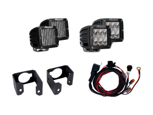 Lighting - Offroad Lights - RIGID Industries - RIGID Industries 2017-2018 FORD SUPER DUTY DUAL FOG LIGHT KIT INCLUDES MOUNTS and 4 D-SERIES 41616