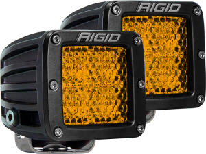 Lighting - Accessories - RIGID Industries - RIGID Industries D-SERIES DIFFUSED REAR FACING HIGH/LOW SM AMBER SET OF 2 90151