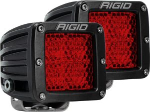Lighting - Accessories - RIGID Industries - RIGID Industries D-SERIES DIFFUSED REAR FACING HIGH/LOW SM RED SET OF 2 90153