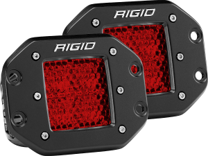 Lighting - Accessories - RIGID Industries - RIGID Industries D-SERIES DIFFUSED REAR FACING HIGH/LOW FM RED SET OF 2 90154