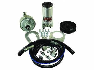PSC Steering - Remote-Fill Power Steering Pump and Remote Reservoir Kit, P Pump Conversion for 4/1999-2004 Ford F250/350 Super Duty 7.3L PSC Performance Steering Components